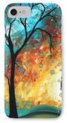 Aqua Burn By Madart IPhone Case by Megan Duncanson