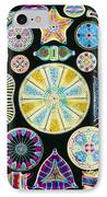 Art Of Diatom Algae (from Ernst Haeckel) IPhone Case by Mehau Kulyk