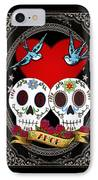 Love Skulls II IPhone Case by Tammy Wetzel