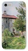 At The Farm IPhone Case by Gerhard Peter Frantz Vilhelm Munthe