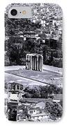 Athens Cityscape Iv IPhone Case by John Rizzuto