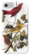 Audubon: Tanager IPhone Case by Granger