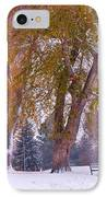 Autumn Snow Park Bench   IPhone Case by James BO  Insogna