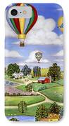Ballooning In The Country One IPhone Case by Linda Mears