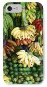 Banana Display. IPhone Case by Jane Rix