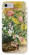 Basket Bouquet IPhone Case by Arline Wagner