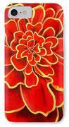 Big Red Flower IPhone Case by Geoff Greene