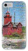 Big Red Photomosaic IPhone Case by Michelle Calkins