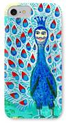 Bird People Peacock King And Peahen IPhone Case by Sushila Burgess