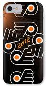Bleeding Orange And Black - Flyers IPhone Case by Trish Tritz