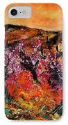 Blooming Cherry Trees IPhone Case by Pol Ledent