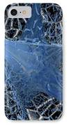 Blue Enmeshed IPhone Case by Ron Bissett