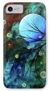 Blue Sapphire 1 By Madart IPhone Case by Megan Duncanson