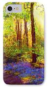 Bluebell Blessing IPhone Case by Jane Small