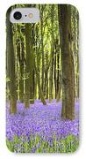 Bluebell Carpet IPhone Case by Jane Rix