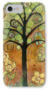 Bluebirds In Paradise Tree IPhone Case by Blenda Studio