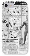 Body-building Ad, 1962 IPhone Case by Granger