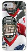 Boys Playing Ice Hockey IPhone Case by Ria Novosti