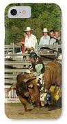 Bull Rider IPhone Case by Phyllis Britton