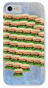 Burger Town Usa Map IPhone Case by Andee Design