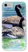 Canada Geese IPhone Case by John D Benson