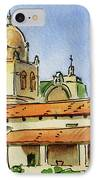 Carmel By The Sea - California Sketchbook Project  IPhone Case by Irina Sztukowski