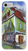 Cesky Krumlov Old Street 3 IPhone Case by Yuriy  Shevchuk