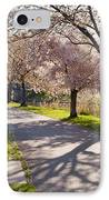 Charles River Cherry Trees IPhone Case by Susan Cole Kelly