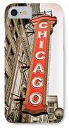 Chicago Theater Sign Marquee IPhone Case by Paul Velgos