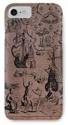 Christopher Colombus Discovering The Islands Of Margarita And Cubagua Where They Found Many Pearls IPhone Case by Spanish School