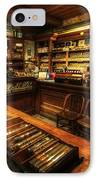 Cigar Shop IPhone Case by Yhun Suarez