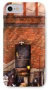 City - Door - The Back Door  IPhone Case by Mike Savad