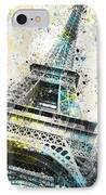City-art Paris Eiffel Tower Iv IPhone Case by Melanie Viola