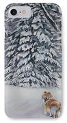 Collie Sable Christmas Tree IPhone Case by Lee Ann Shepard