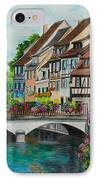Colmar In Full Bloom IPhone Case by Charlotte Blanchard