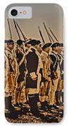 Colonial Soldiers On Parade IPhone Case by Bill Cannon