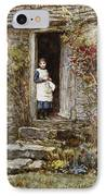 Corcorus Japonica IPhone Case by Helen Allingham