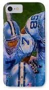 Cowboy Huddle IPhone Case by Steven Richardson