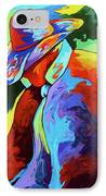 Cowboy Who IPhone Case by Lance Headlee