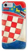 Croatia Flag IPhone Case by Setsiri Silapasuwanchai