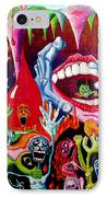 Damnation Of The Evil IPhone Case by Nancy Mueller