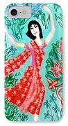 Dancer In Red Sari IPhone Case by Sushila Burgess
