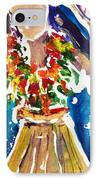 Dancing Hula IPhone Case by Julie Kerns Schaper - Printscapes