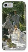 Dejeuner Sur Lherbe IPhone Case by Claude Monet
