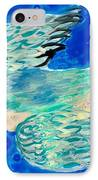 Detail Of Bird People Flying Bluetit Or Chickadee IPhone Case by Sushila Burgess