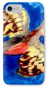 Detail Of Bird People Flying Chaffinch  IPhone Case by Sushila Burgess