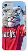 Diamondbacks Mascot Baxter IPhone Case by Jon Berghoff