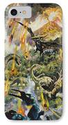 Dinosaurs And Volcanoes IPhone Case by English School