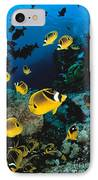 Diver And Butterflyfish IPhone Case by Dave Fleetham - Printscapes