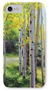 Early Autumn Aspen IPhone Case by Gary Kim